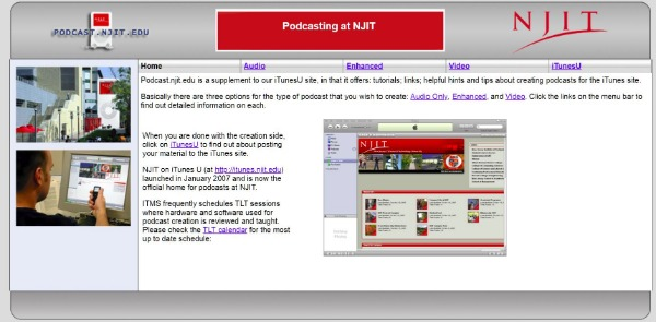 podcasting at NJIT