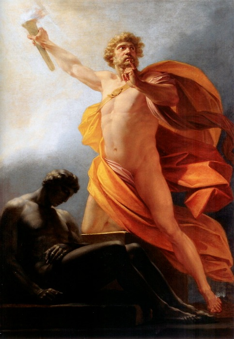 Prometheus Brings Fire by Heinrich Friedrich Füger