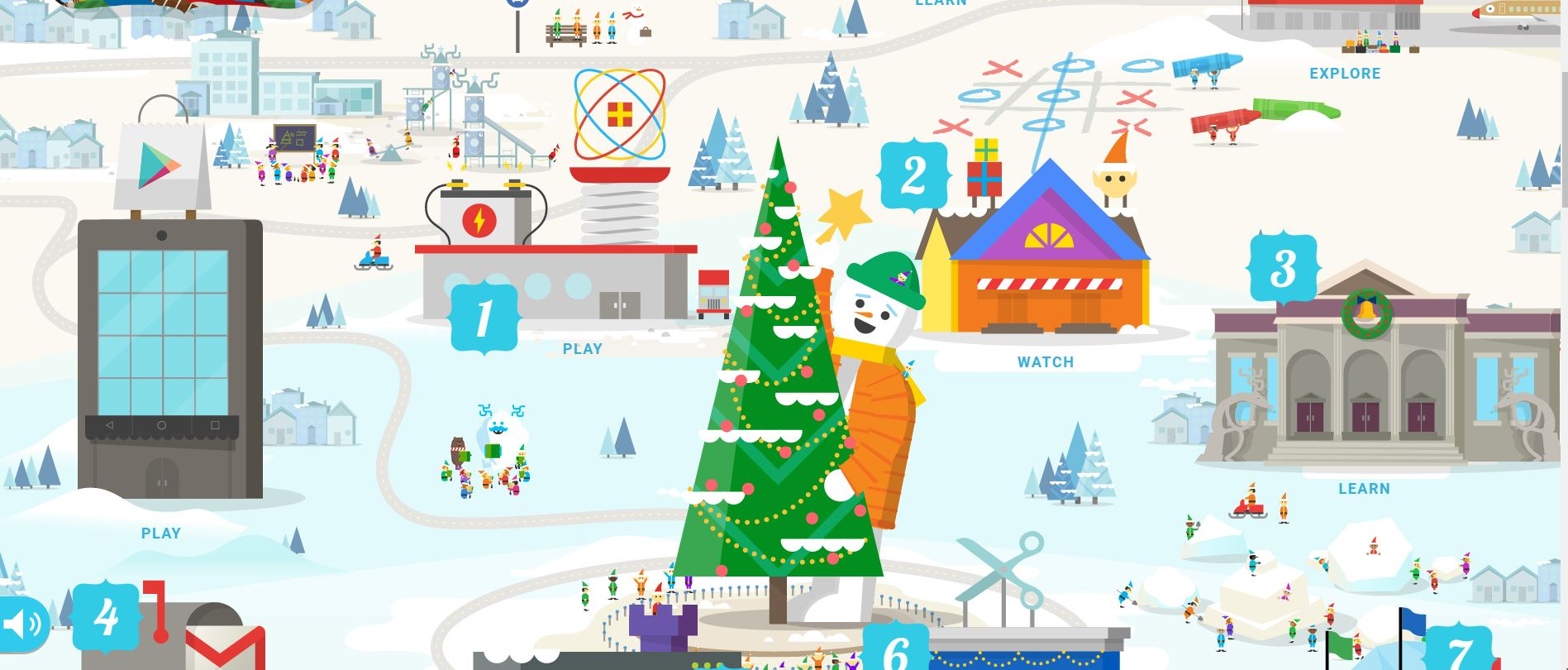 Google Santa Tracker village